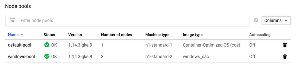 How to deploy a Windows container on Google Kubernetes Engine
