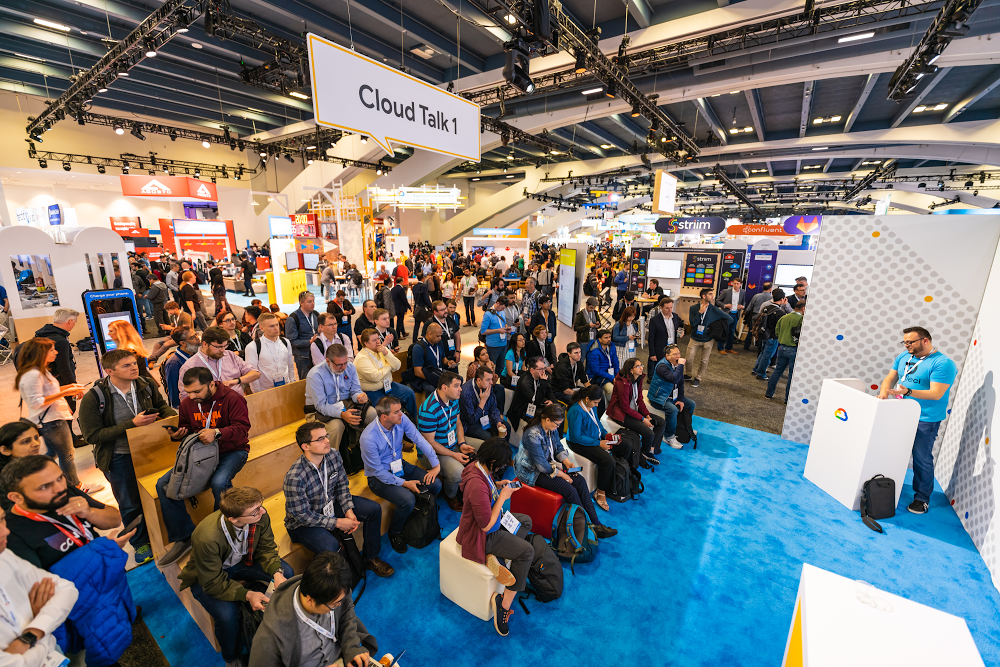 The crowd at one of our cloud talks at Google Cloud Next '19
