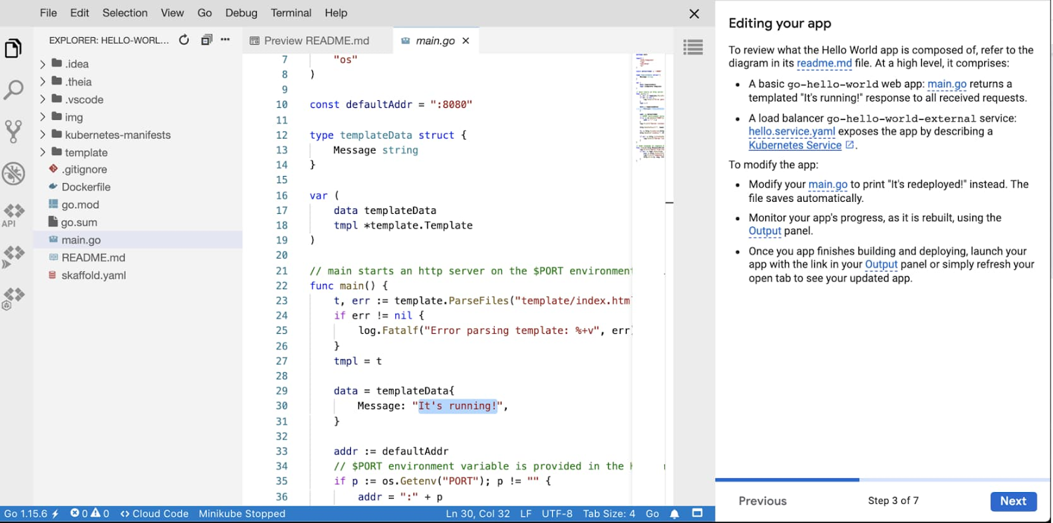 In-context tutorials available within Cloud Shell Editor.jpg