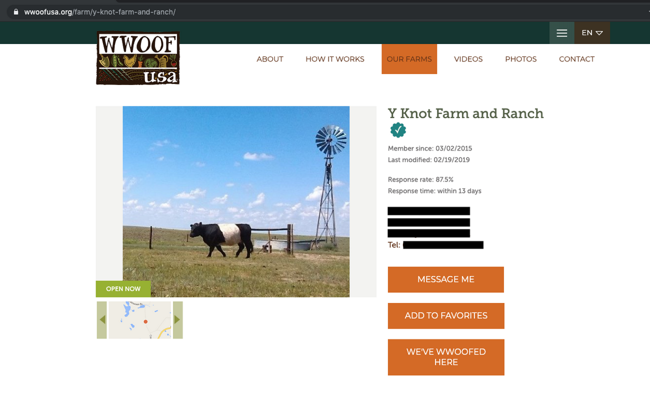 WWOOF Website 2