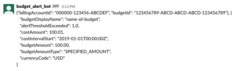 Budget Alert Bot