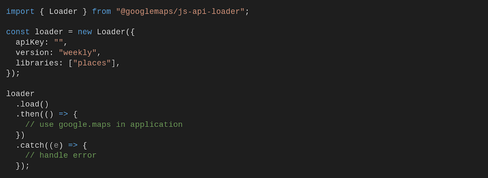 Dynamic loading example
