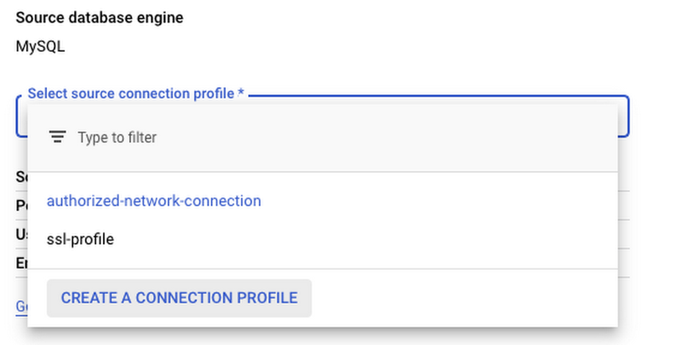 Connection profiles