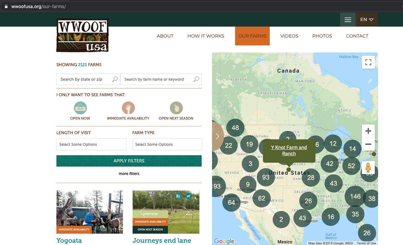 Worldwide Opportunities on Organic Farms