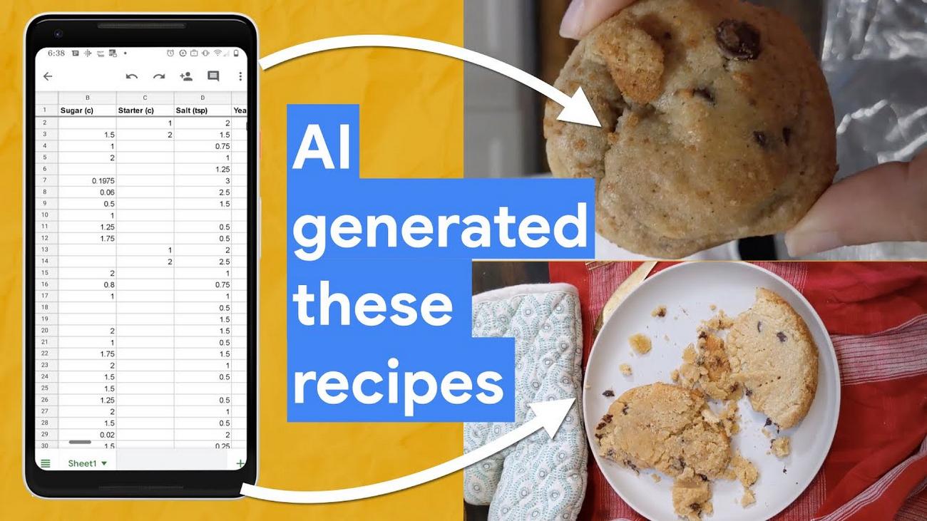Baking recipes made by AI