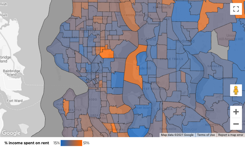 Mapping census tracts in Data Studio