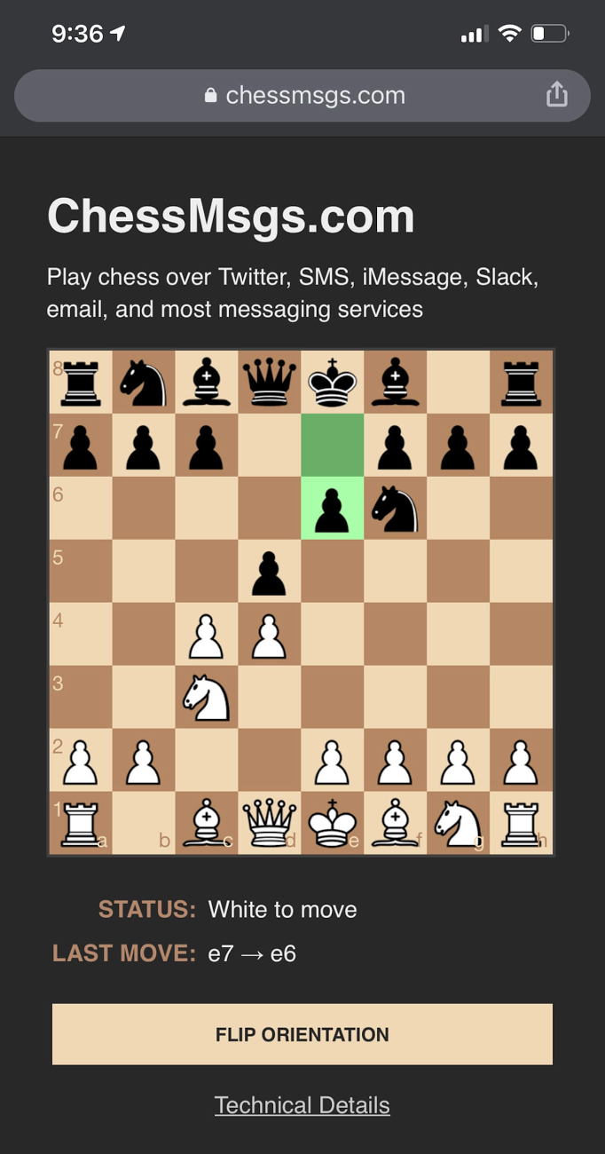 ChessMsgs.com screenshot