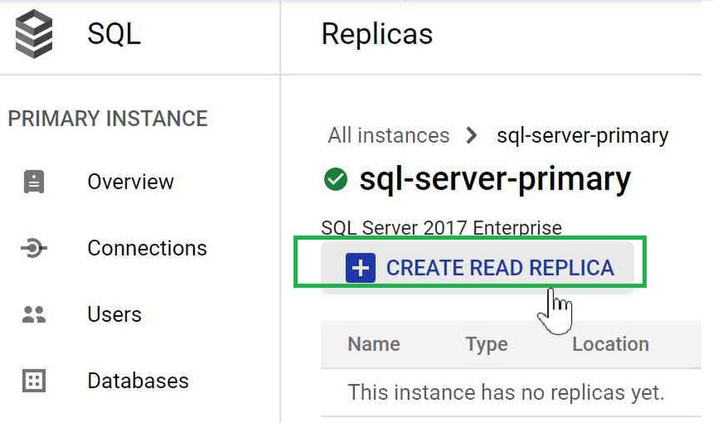Create Cloud SQL Read Replica