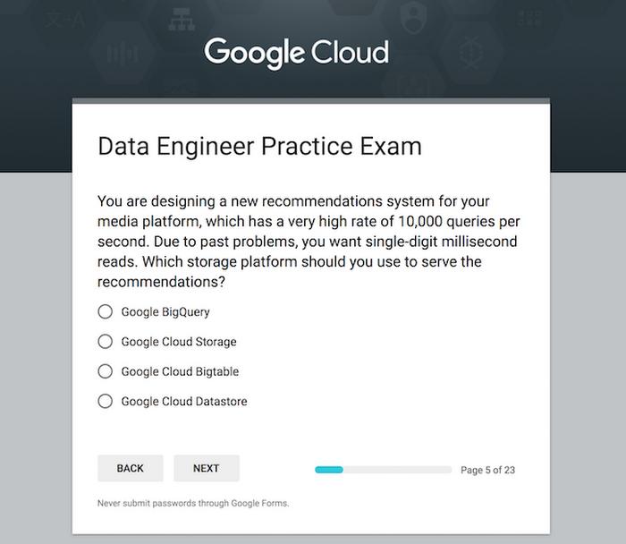 practice makes perfect the professional data engineer practice exam