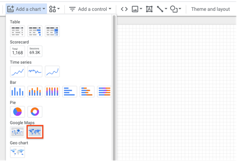 """Configuring """"filled maps"""" visualizations in Data Studio"""