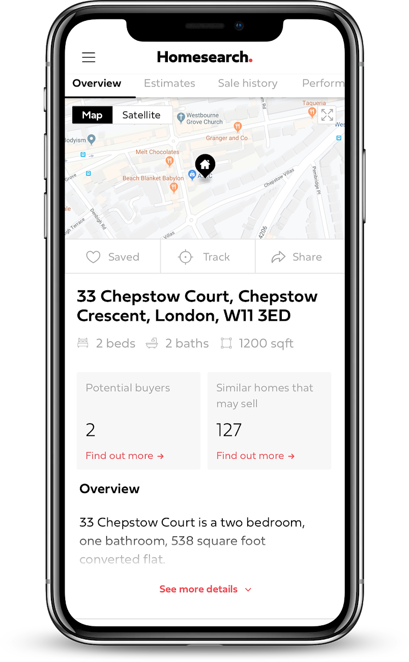 Mobile device Homesearch