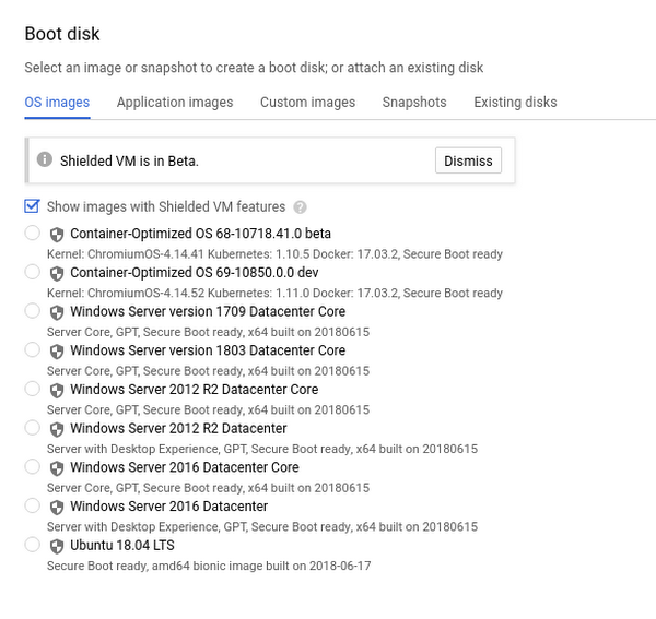 GCP Workload Boot Disk