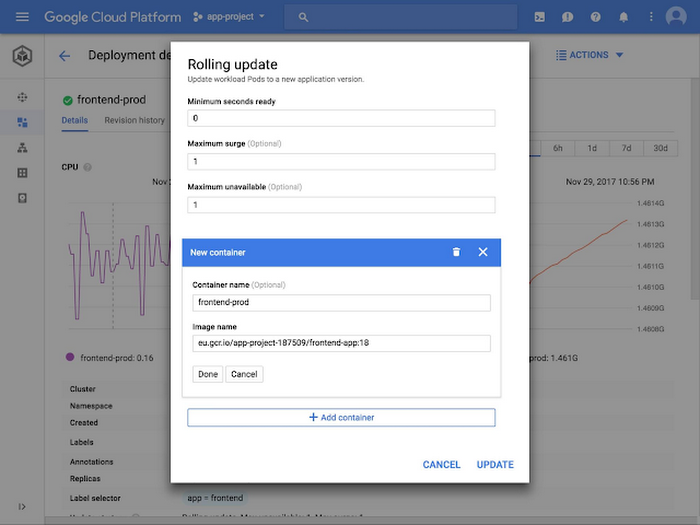 Manage Google Kubernetes Engine from Cloud Console dashboard