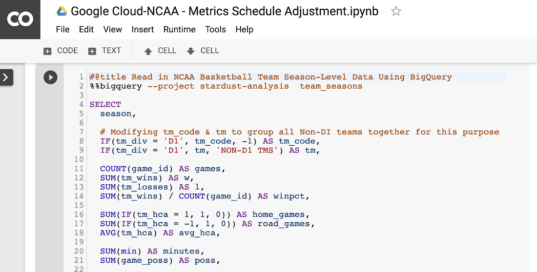 Let the queries begin: How we built our analytics pipeline for NCAA