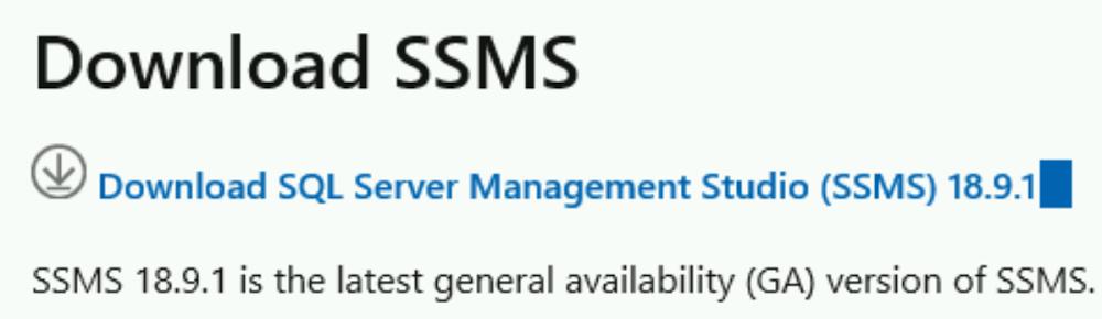 Download SSMS