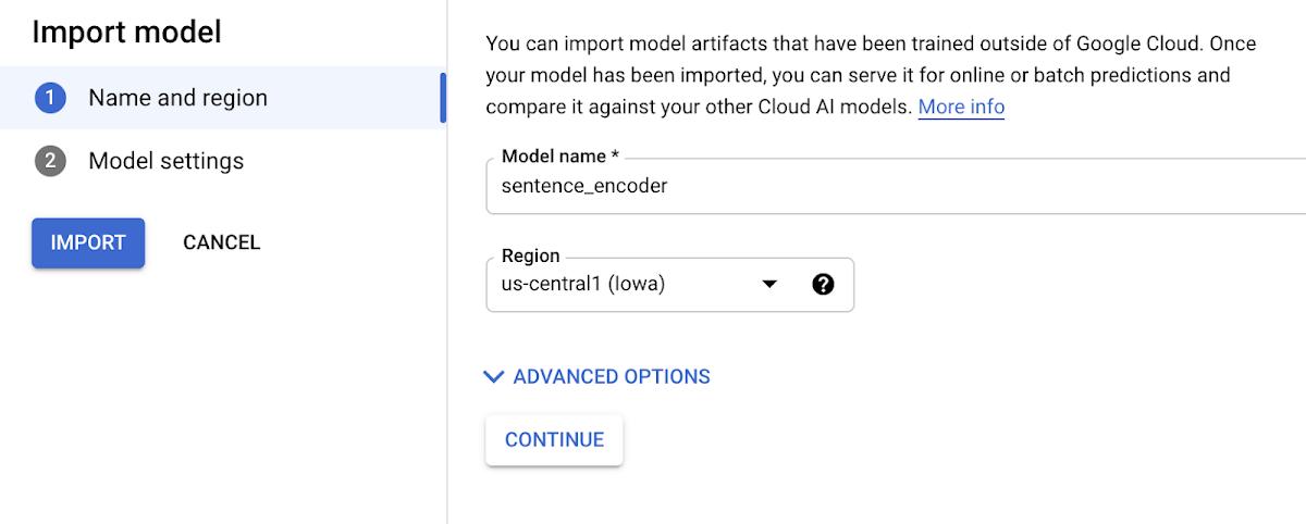 Import model
