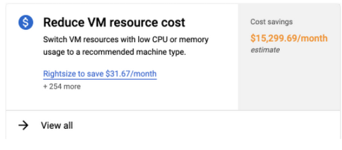 active assist reduce vm cost