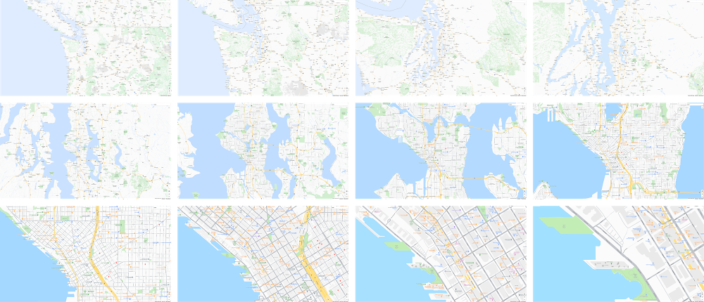 Zoom level map
