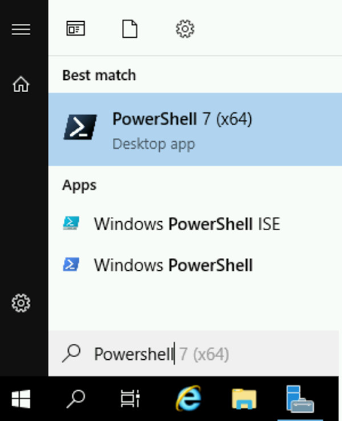 Windows VM instance search for Powershell