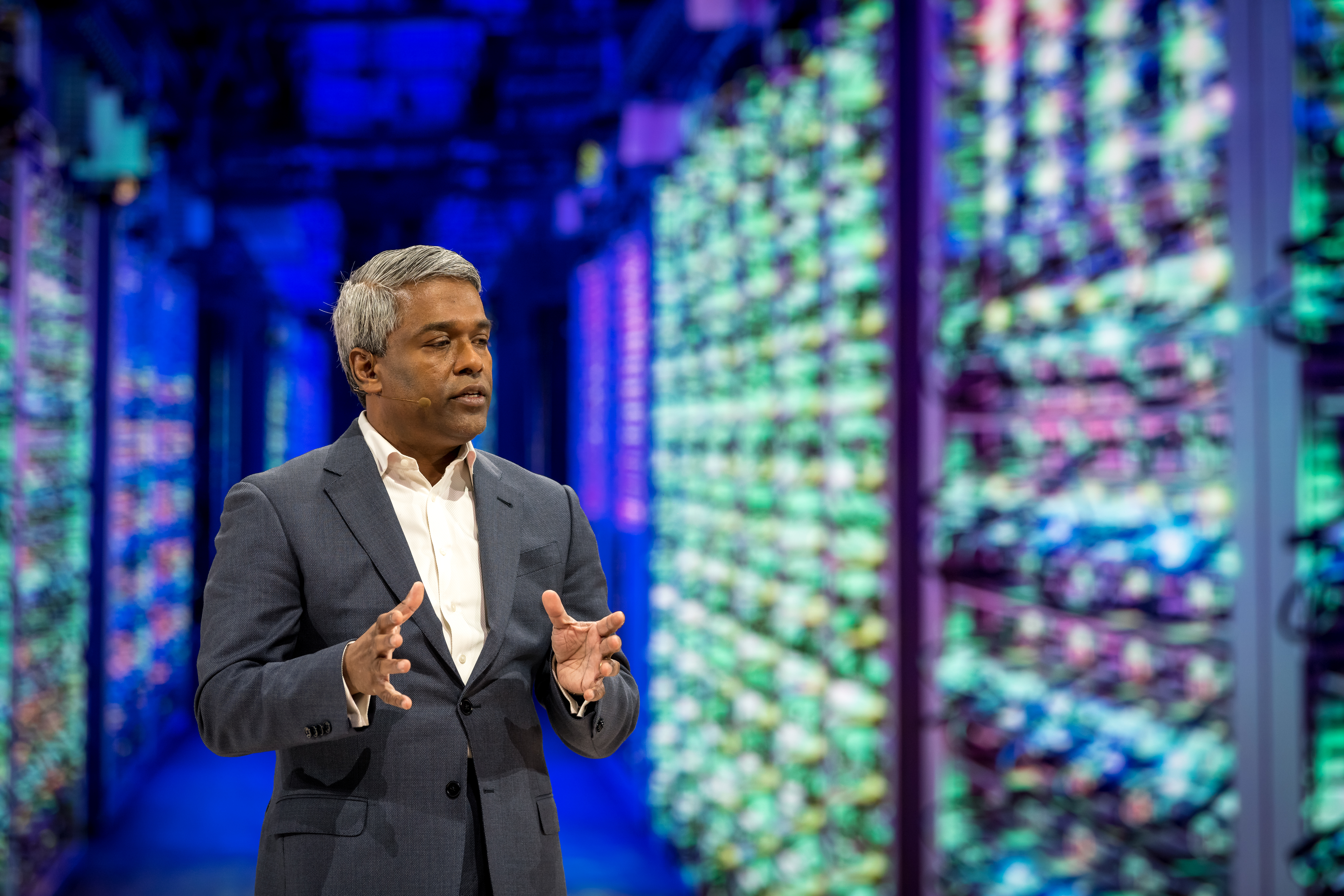 Thomas Kurian, CEO of Google Cloud, on-stage at Google Cloud Next '19