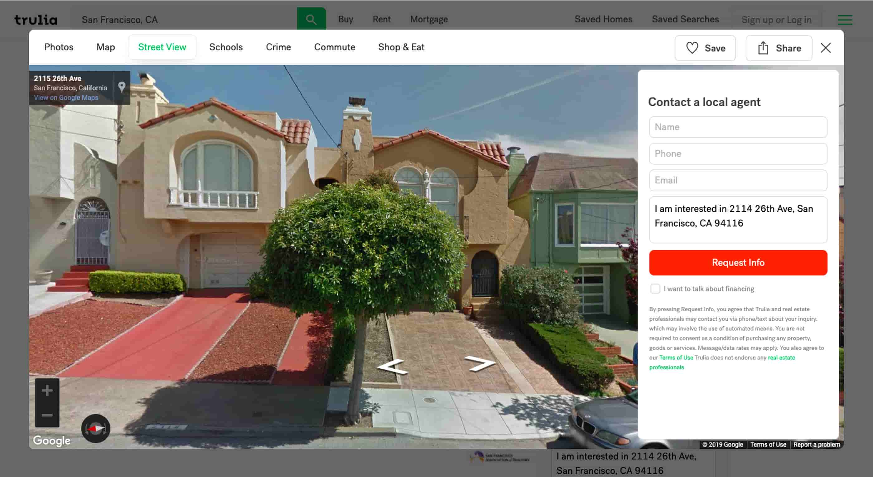 Street View exploration of a neighborhood on Trulia.png