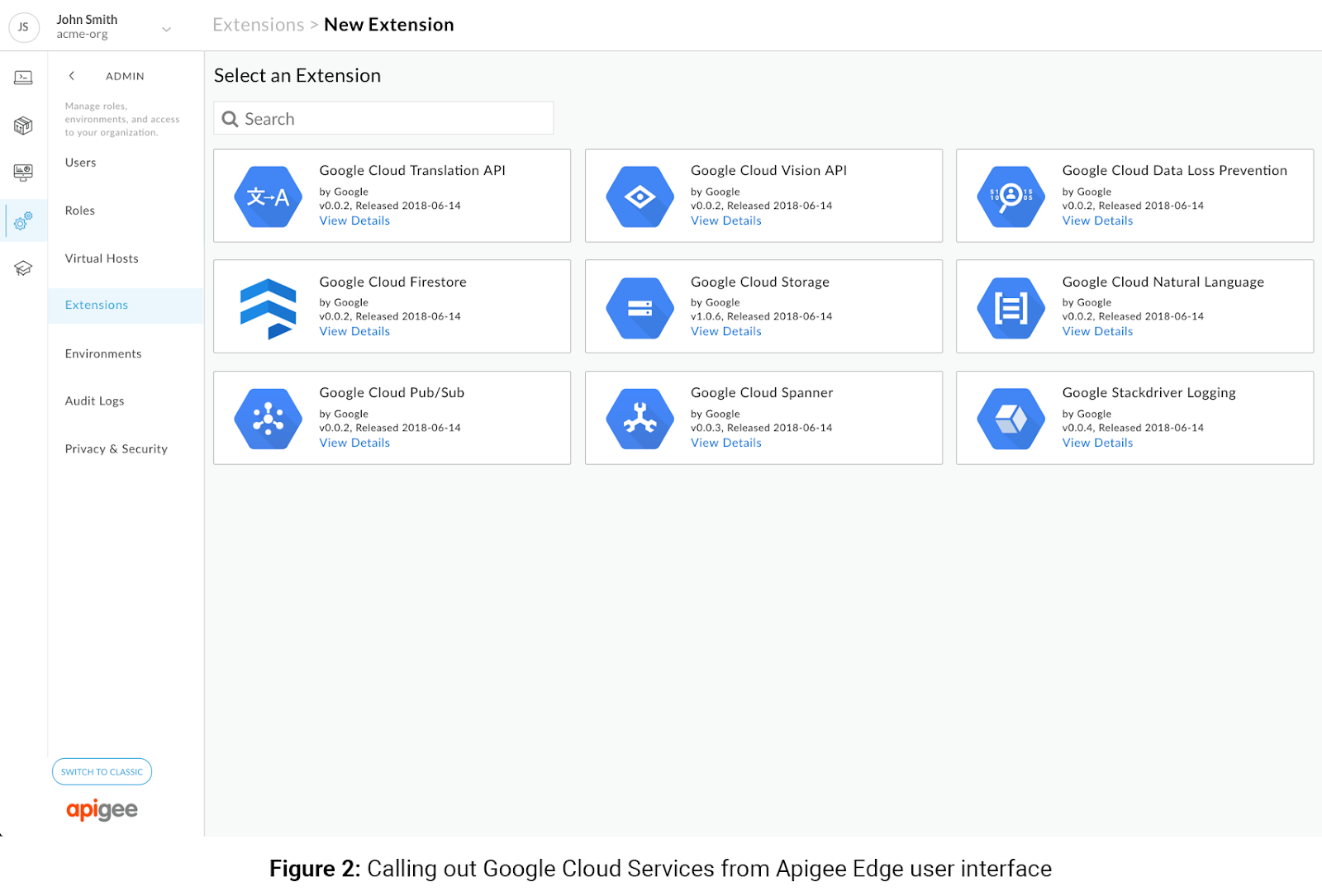 Calling out Google Cloud services from apigee edge