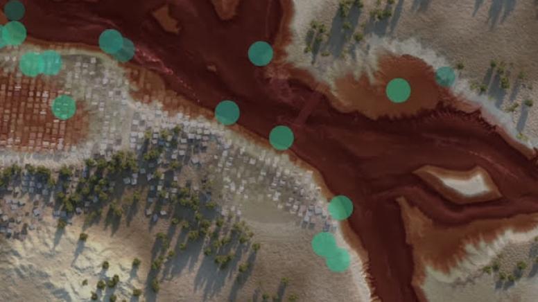 Animation showing flood forecasting technology.