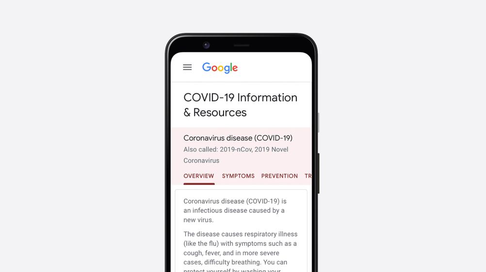 COVID-19 Information & Resources on Search.