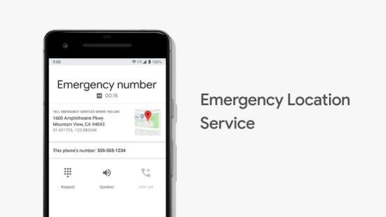Visual showing emergency location services.