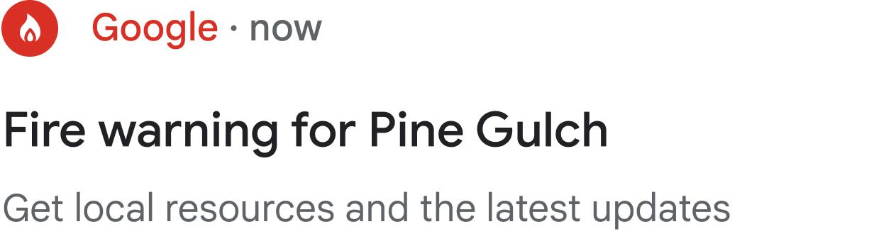 Fire warning notification