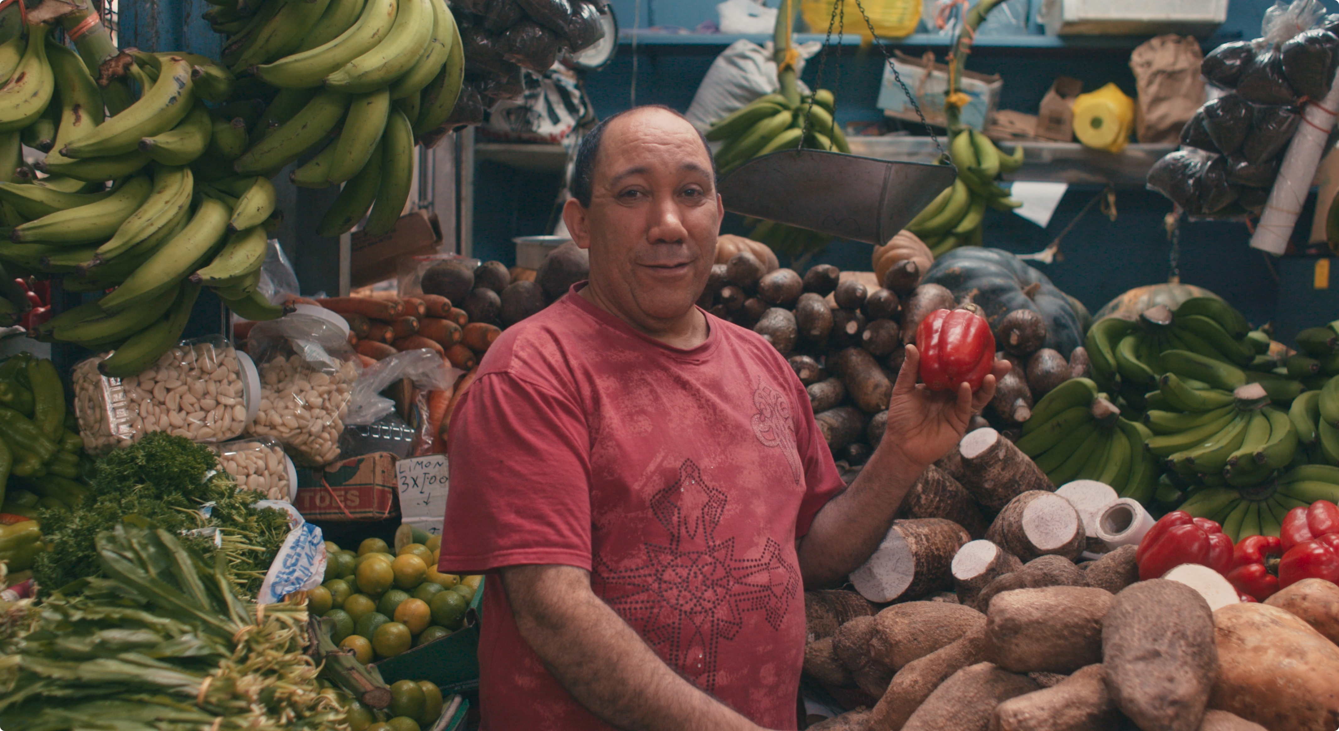 Puerto Rico resident at a market.