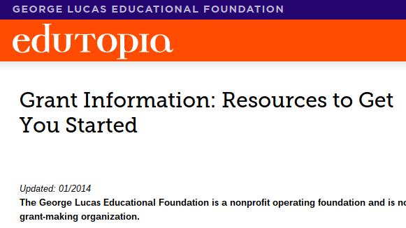 Edutopia's list of large grant opportunities
