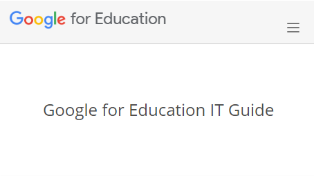 Google for Education IT Guide