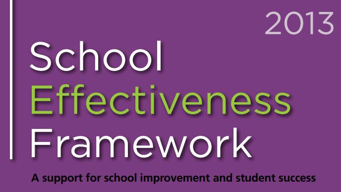 Ontario School Effectiveness Framework