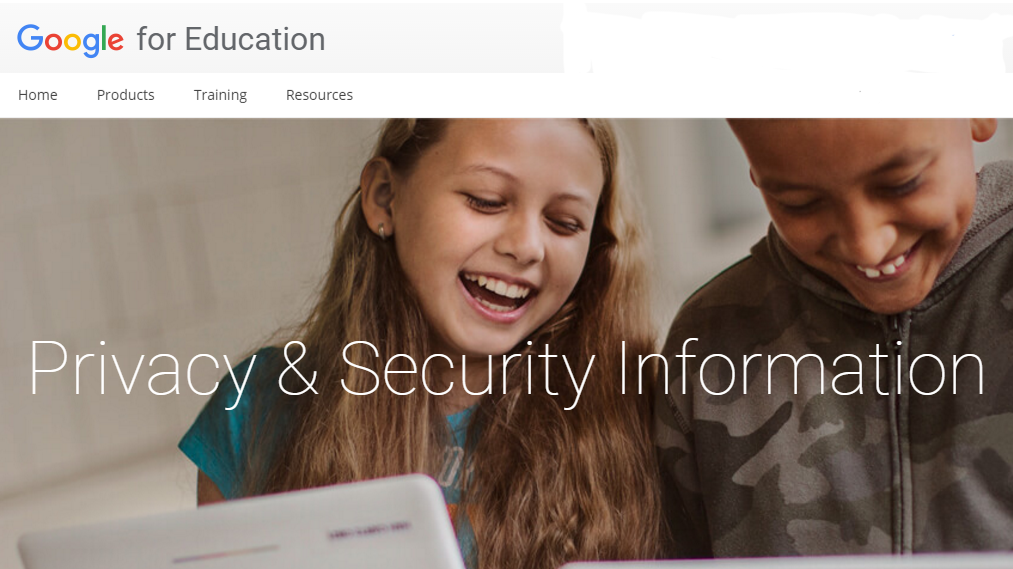 Google for Education's privacy and security page