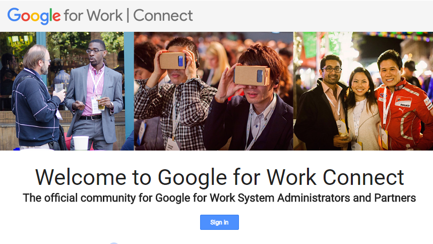 Google for Work Connect: a community of IT administrators
