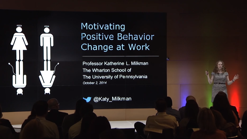 Motivating positive behavior change at work
