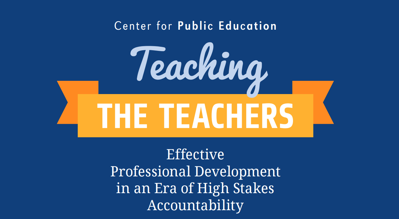 Effective PD in an era of high stakes accountability