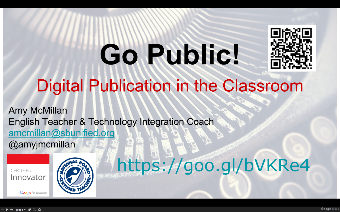 Go Public! Digital Publication in the Classroom