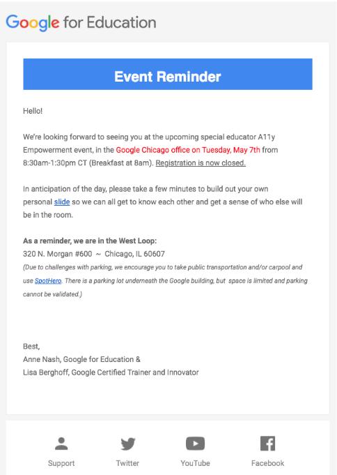 Google For Edu A11Y Empowerment Event