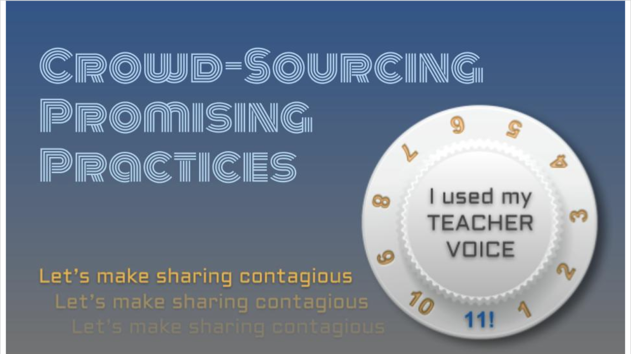 Crowd-Sourcing Promising Practices