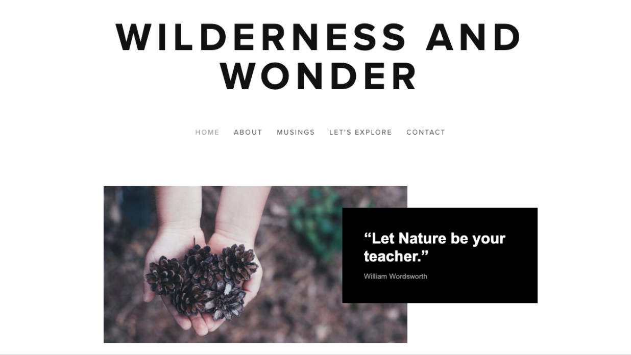 Wilderness and Wonder