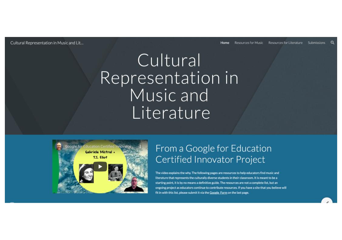 Cultural Representation in Music and Literature