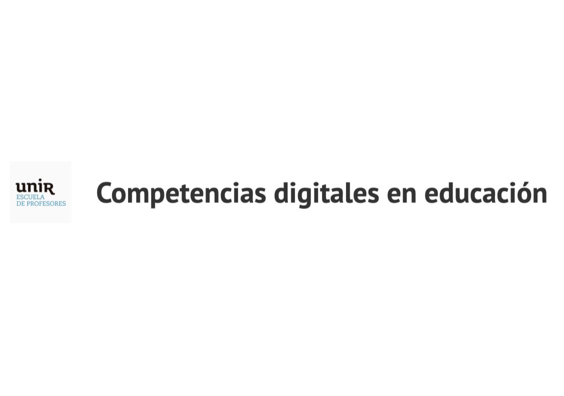 Competencias digitales en educación