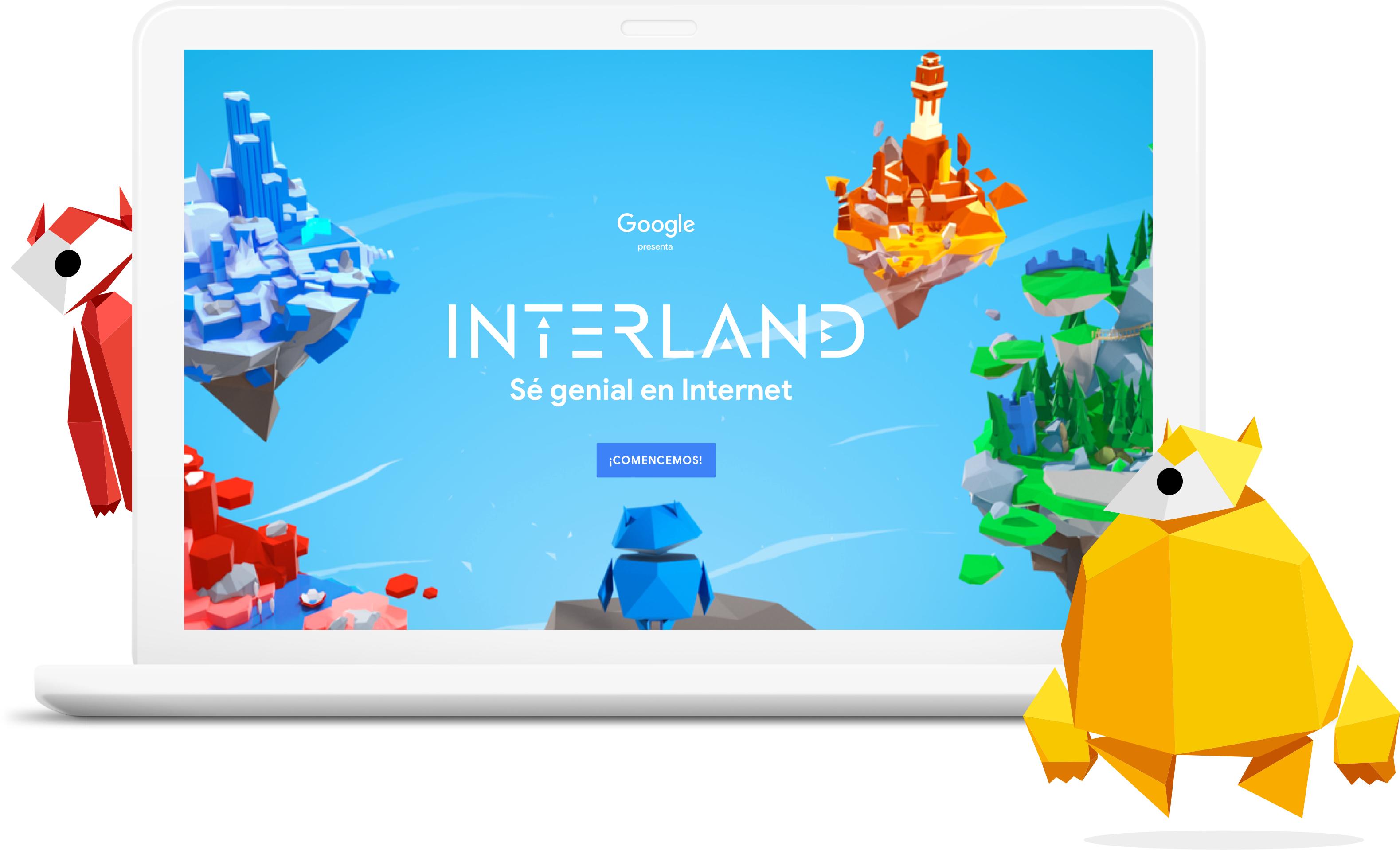 interland google español seguridad internet niños latinos #beinternetawesome #genialeninternet