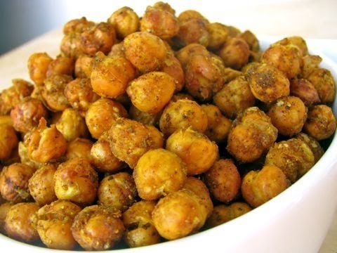 Indian Spiced Roasted Chickpeas Recipe - Quick, Easy, Delicious