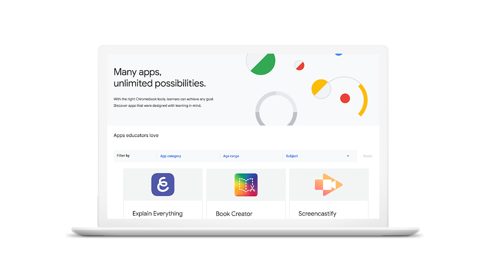 Chromebook App Hub Apps page