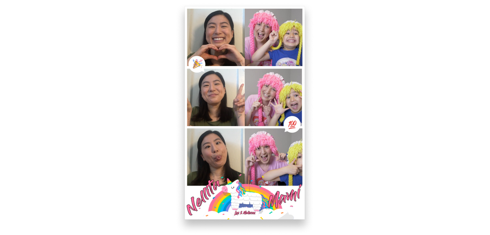 A virtual Photo Booth on Fundo