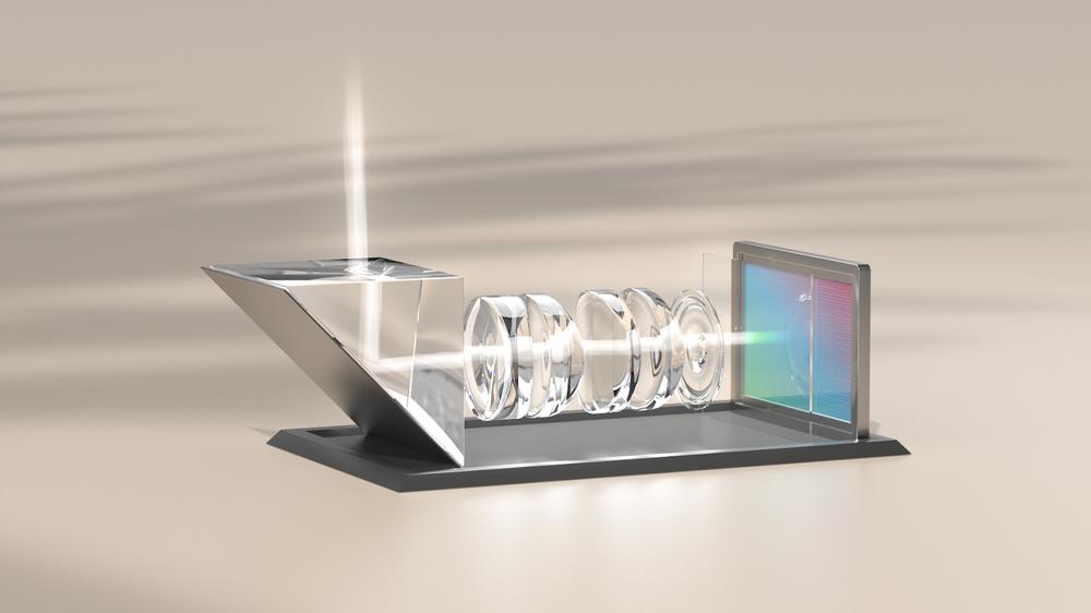 Schematic of Pixel 6 Pro telephoto camera.
