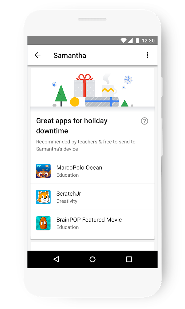 Draw a line in the snow: using tech with kids around the holidays